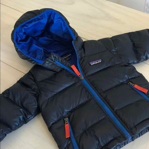Patagonia Hooded Down Jacket- Navy Blue 6-12 month